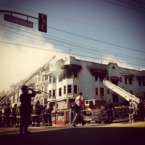 Four-alarm fire